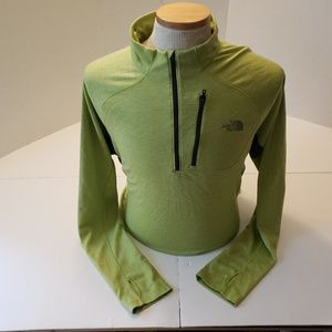 North Face Lime Green Flask dry Mens XL Pullover